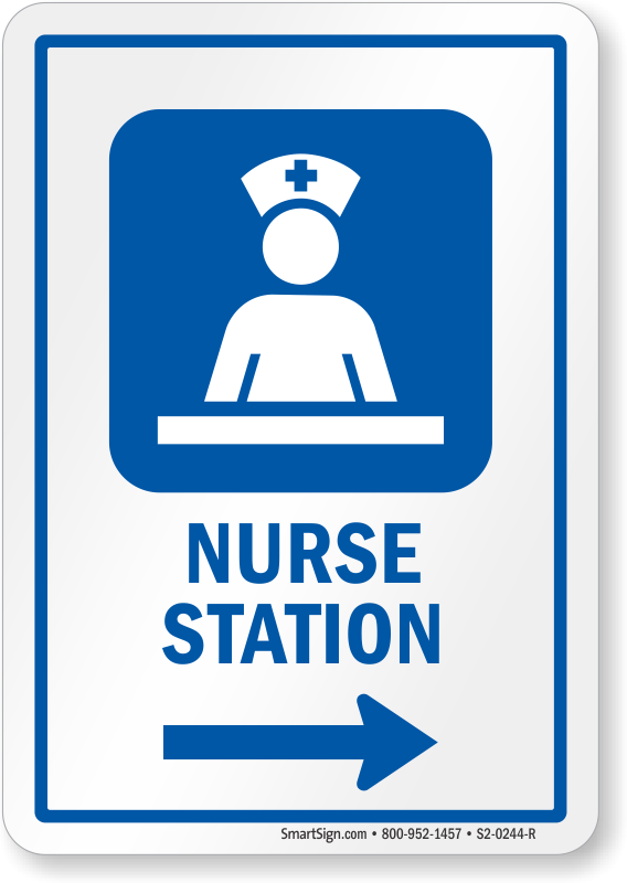 Nurse Station Area Right Arrow Sign Sku S2 0244 R