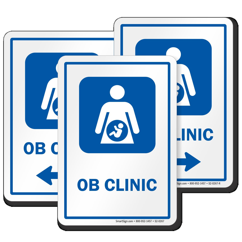 ob clinic obstetrician ob gyn hospital sign sku s2 0267. Black Bedroom Furniture Sets. Home Design Ideas