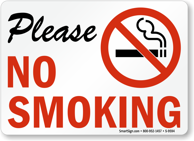 No Smoking Labels Please No Smoking Sku S 9594