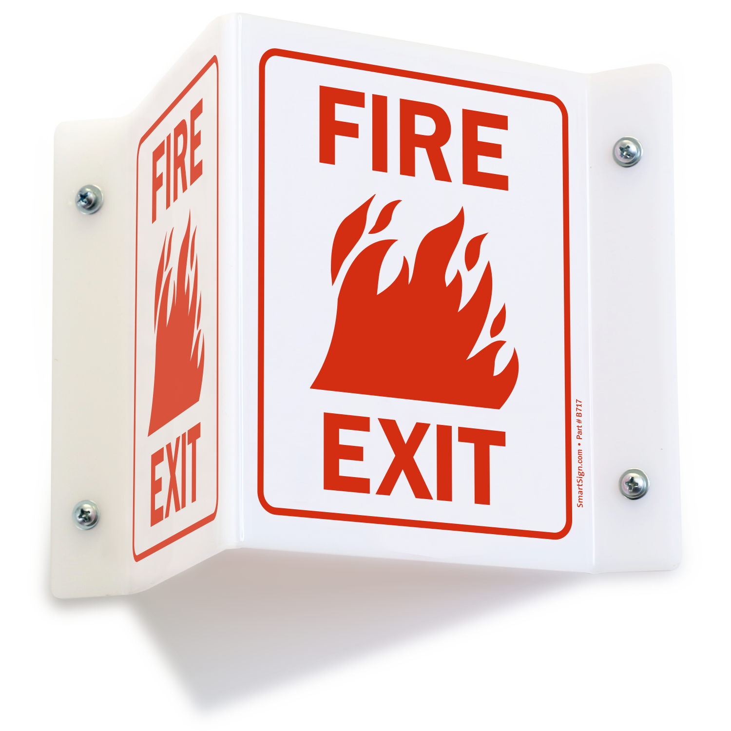 fire exit signs fire and emergency signs sku s 4569. Black Bedroom Furniture Sets. Home Design Ideas