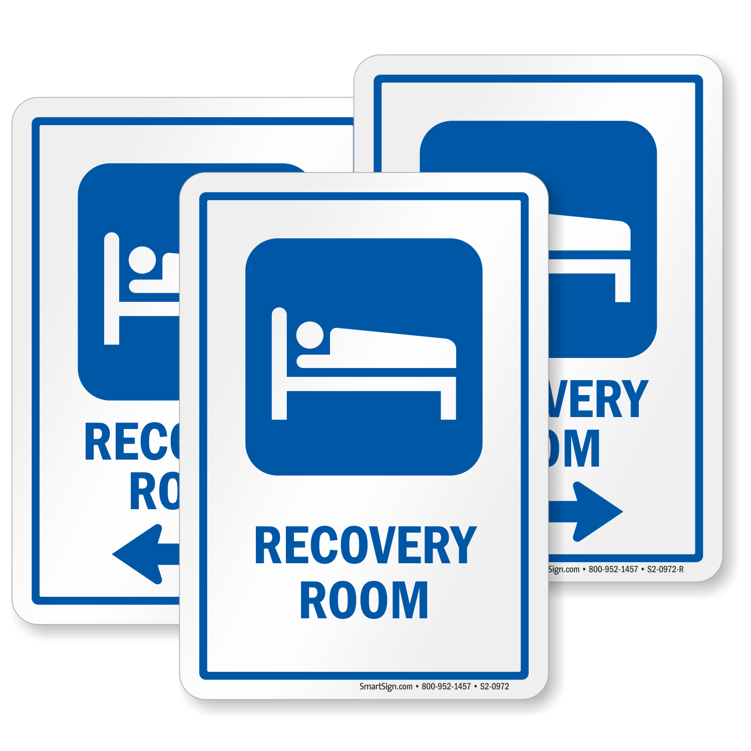 recovery room hospital sign  patient on bed symbol  sku