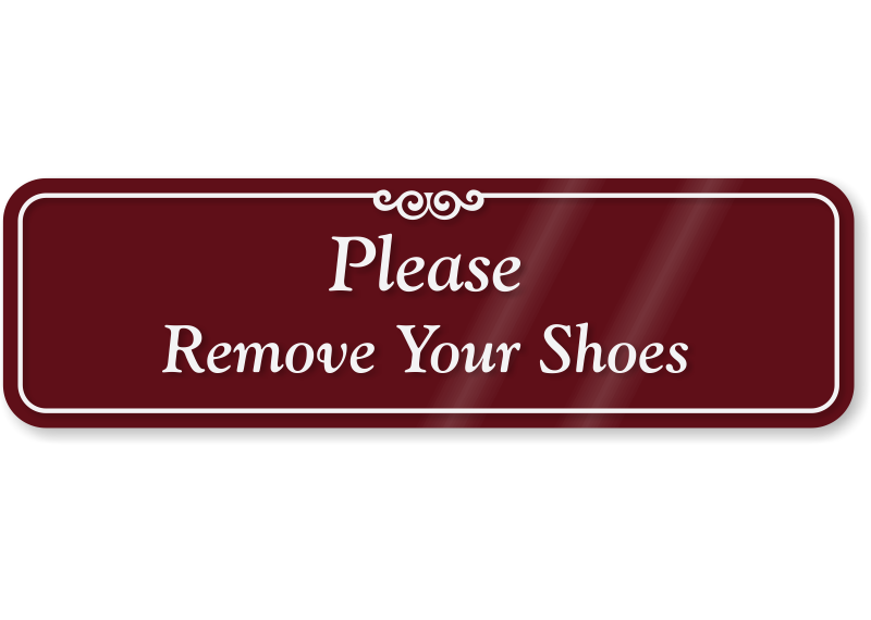 Remove Shoes Gorgeous Remove Shoes Retro Tin Sign Mainly