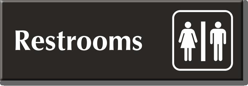 Unisex Restroom Signs Unisex Bathroom Signs