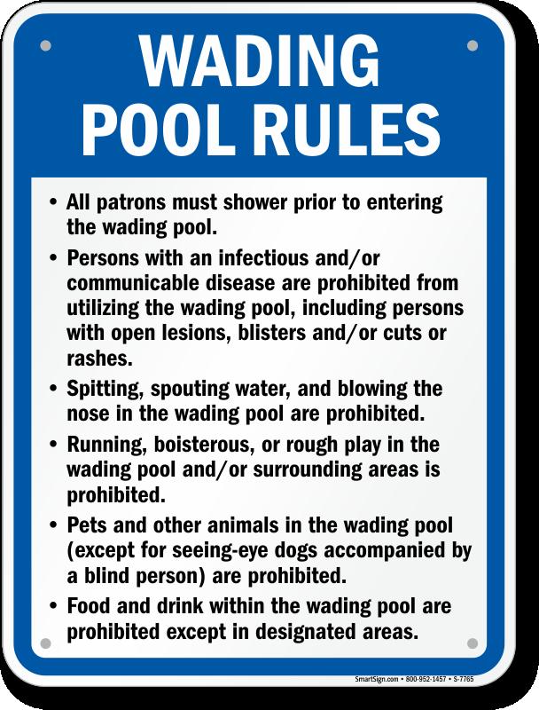 Rhode Island Swimming Pool Signs