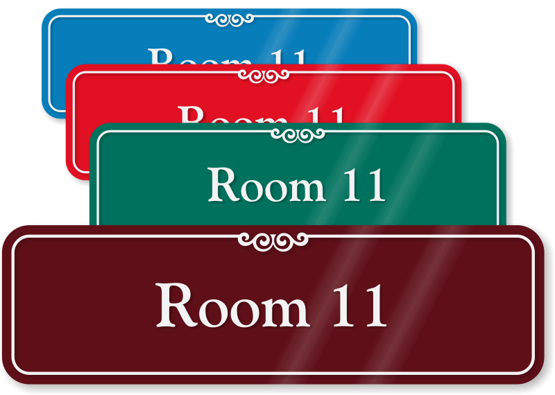 showcase room number signs