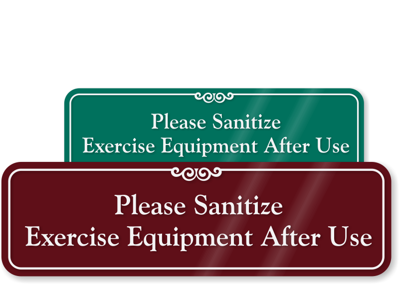 Fitness room signs gym health club from