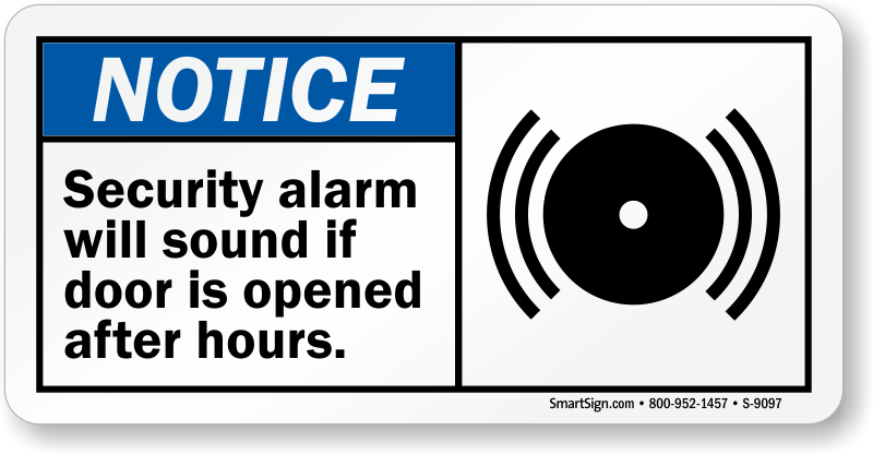 Fire Door Alarmed Signs