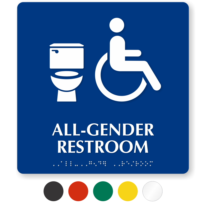 All Gender Restroom Signs Transgender Restroom Signs