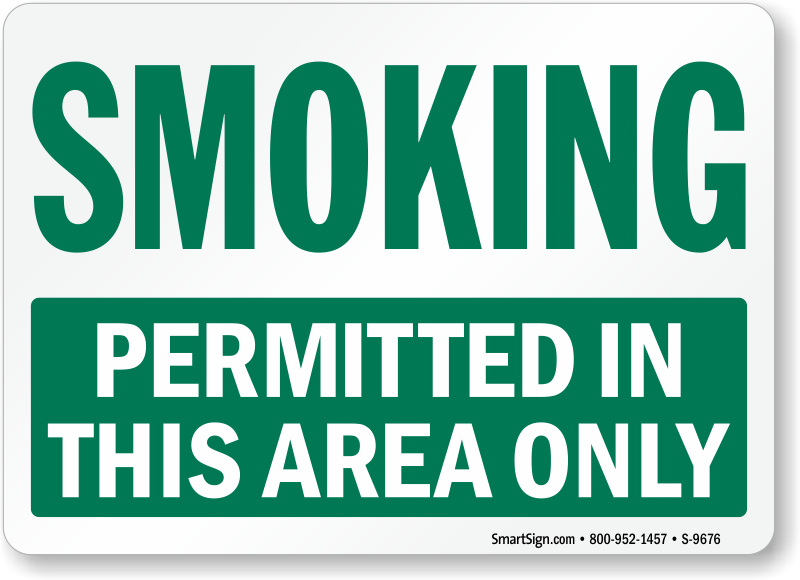 Smoking Allowed Signs | Smoking Permitted Signs