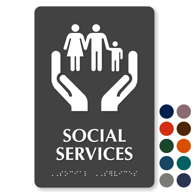 Social Services Signs Social Services Door Signs
