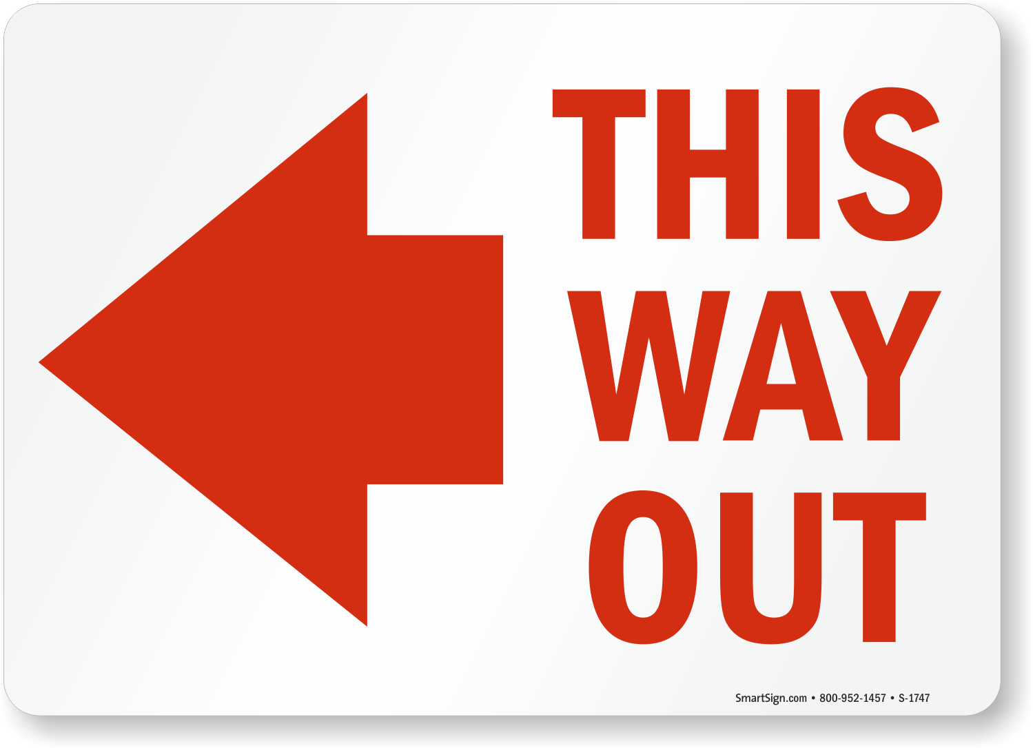 This Way Out Signs | Exit Signs | Glow Signs