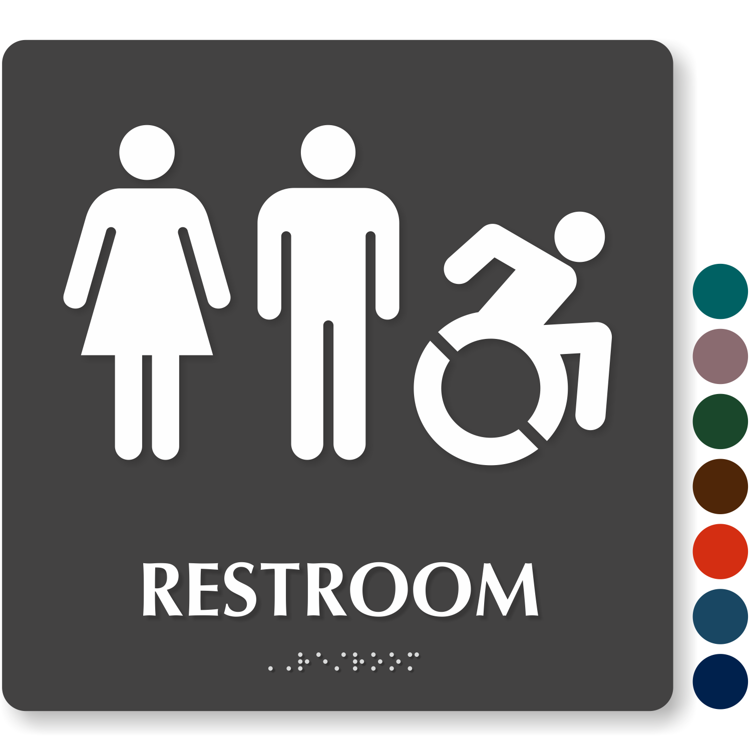 Bathroom Signs Vector Free family restroom signs