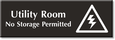 Utility room signs for Storage room sign