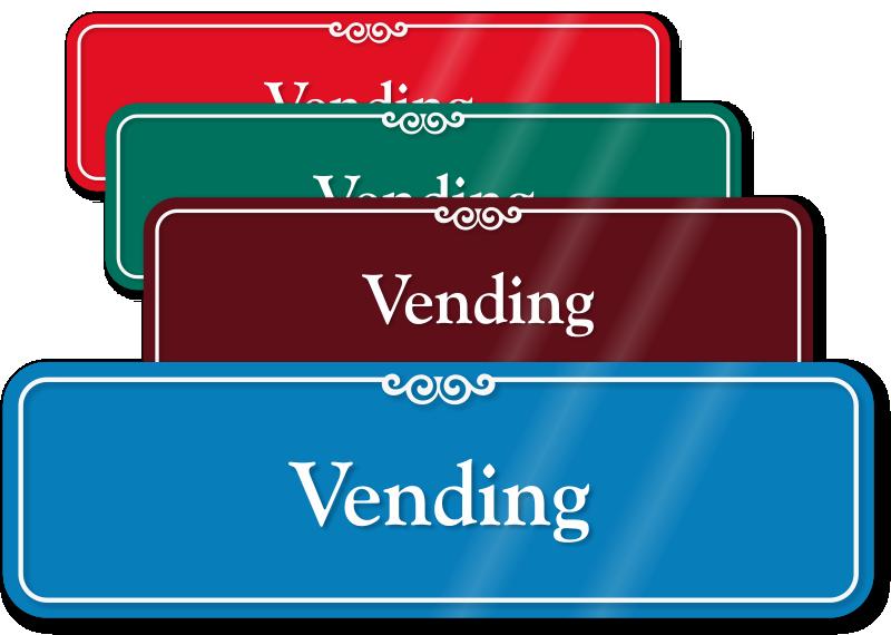 vending machine signs