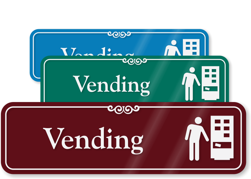 dining room signs, restaurant signs - vending signs