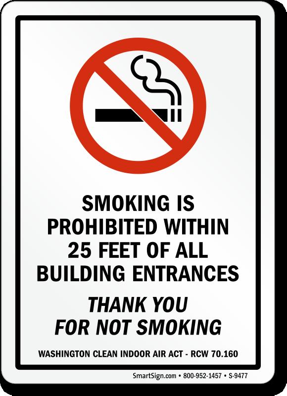 Washington No Smoking Signs - No Smoking Signs by State
