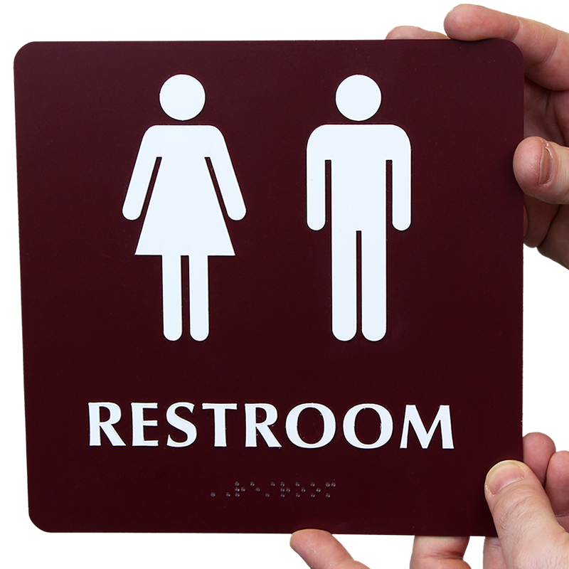 Braille Unisex Restroom Sign With Pictograms Free Pdf