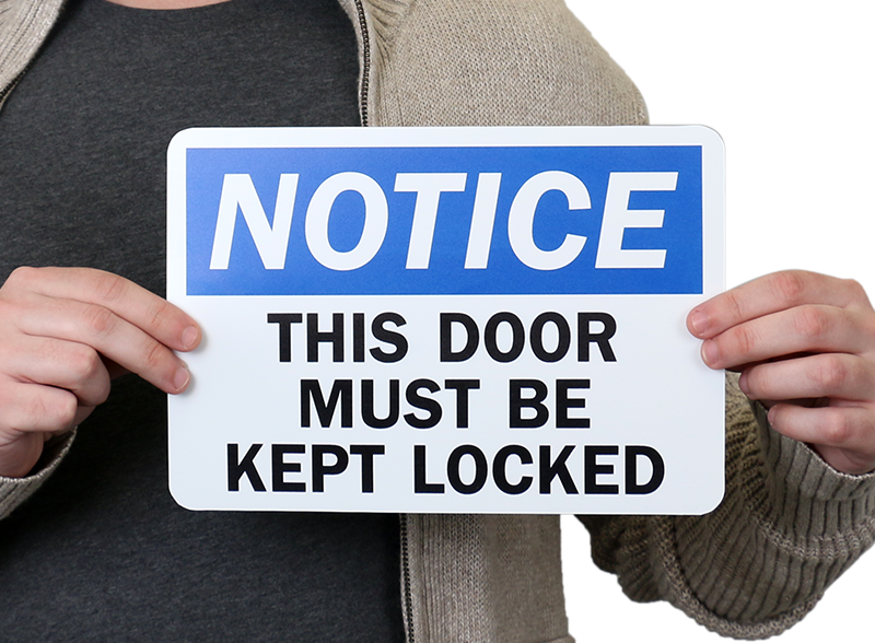 This Door Must Be Kept Closed Sign Notice Signs Sku S 0963
