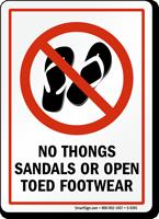 No Open Toed Footwear
