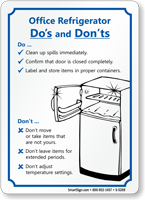 Refrigerator Cleanup Fridge Cleaning Sign Sku S 5269