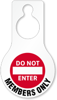 Do Not Enter Members Only Hang Tag, SKU: TG-1441