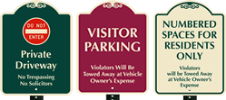 24 Inch x 18 Inch Parking SignatureSign™