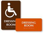 ADA Dressing Room Signs