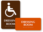ADA Dressing Room Signs
