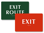 Braille Exit Signs | Tactile Exit Signs