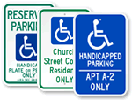 Custom ADA Parking Signs