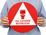 California All-Gender Restroom Sign Kits