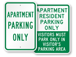 Apartment Parking Signs