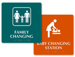 Baby Changing Room Signs