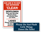 Bathroom Etiquette Signs