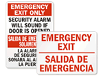 Bilingual Exit Signs