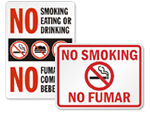 Bilingual No Smoking Signs & Labels