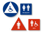 California Bathroom Sign Kit