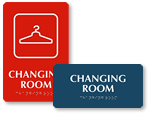Changing Room Signs