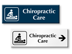 Chiropractic Care Door Signs