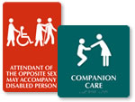 Companion Care / Elderly Bathroom Signs