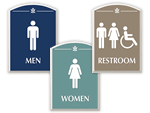 Contour Bathroom Signs