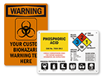 Custom Health Hazard Signs