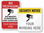 Custom Security Signs