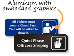 Custom DiamondPlate™ Anodized Metal Signs