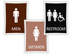 Deco Bathroom Signs