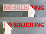 Die-Cut No Soliciting Signs