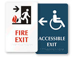 Directional Braille Exit Signs
