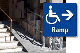 Handicapped Door Sign