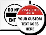 Do Not Enter Floor Stickers