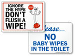 Do Not Flush Signs